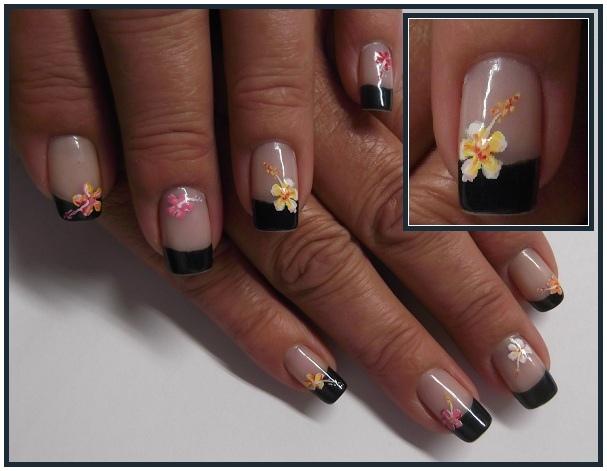 Hibiscus Nails Nail Art Gallery
