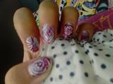 pink disco nails