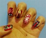 Lady bug nail art