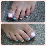 Gel polish pedicure