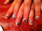 Kids Dalmatian nails
