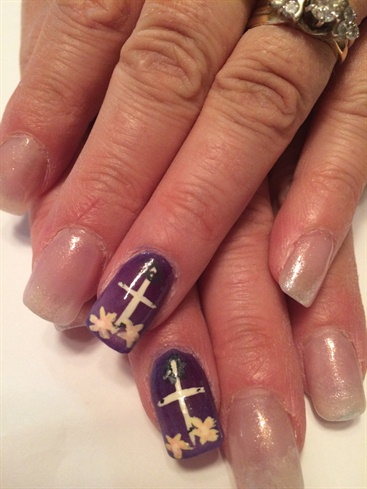 Easter Cross Nail Art Gallery