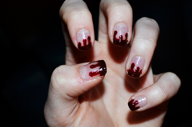 Blood drip nail art gallery blood drip prinsesfo Choice Image