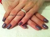 gel polish with handpainted art