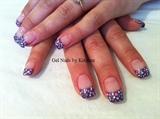 purple with polka dots!