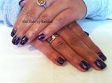purple haze w/ black glitter gel overlay