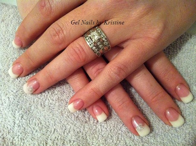 simple french with pearl topgloss