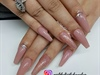 nude acrylic ballerina nails