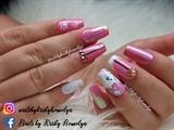 pink cartoon nails