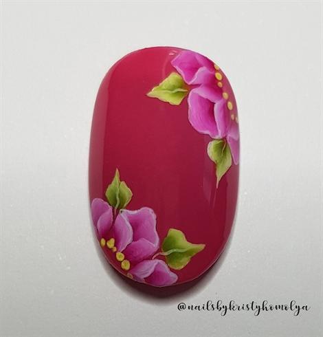Pink one stroke flowers SBS