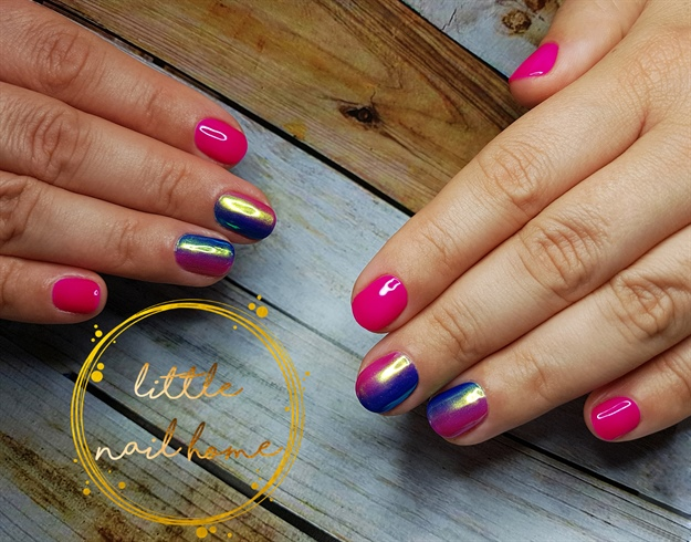 ombre nail art on short nails