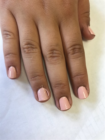 Pink Glitter Look