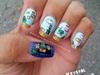 Super Mario Bros Scene Nails