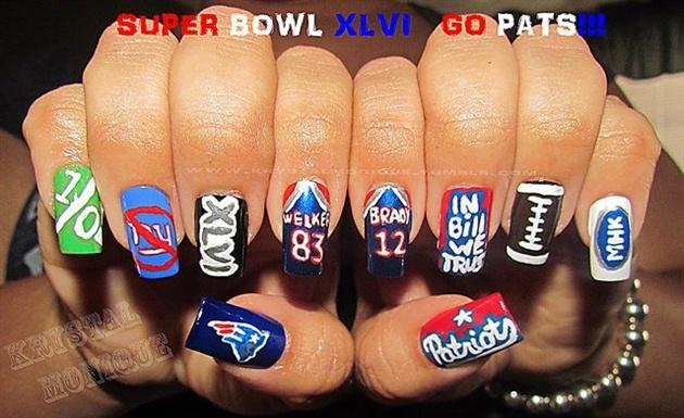 New England Patriots - Nail Art Gallery