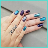 Purple teal matte