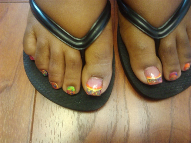 marbled feet