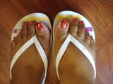 fall colored toes