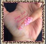 #Nails #Design #3D #Flower💅