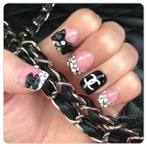 Chanel Style Nails Nail Art Gallery