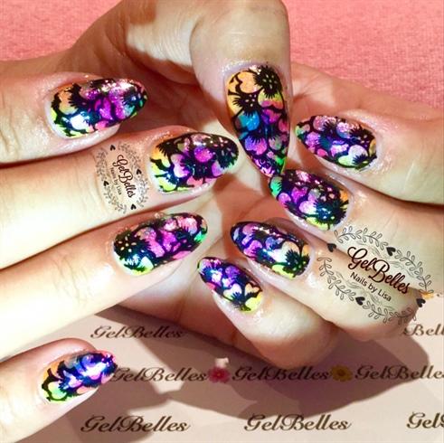 Rainbow Pigments & stamping