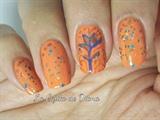 Orange nail art