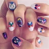 Sailor Moon gel nails! Japan anime manga