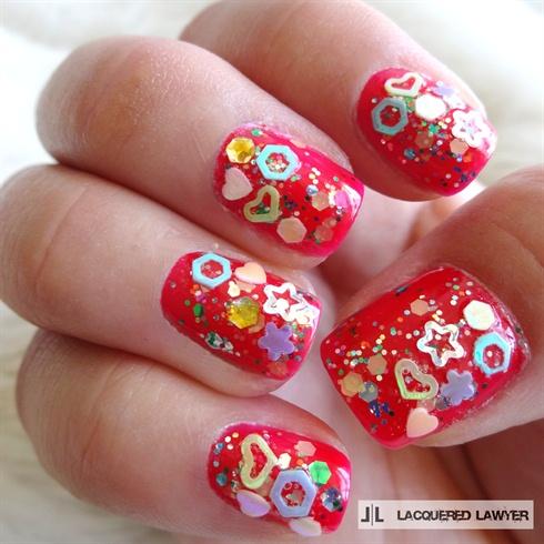 Confetti Nail Art