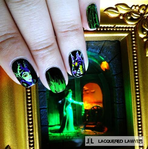Maleficent Nail Art Nail Art Gallery