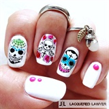 Nail art gallery day of the dead nail art photos dia de los muertos prinsesfo Gallery