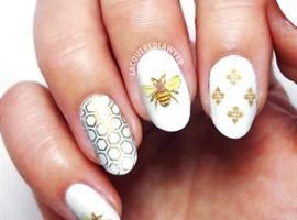 nail art: Busy Bee