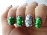 Mermaid Glitter Nails, Handplaced