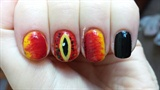 Lord of the Rings Nail Art: Sauron