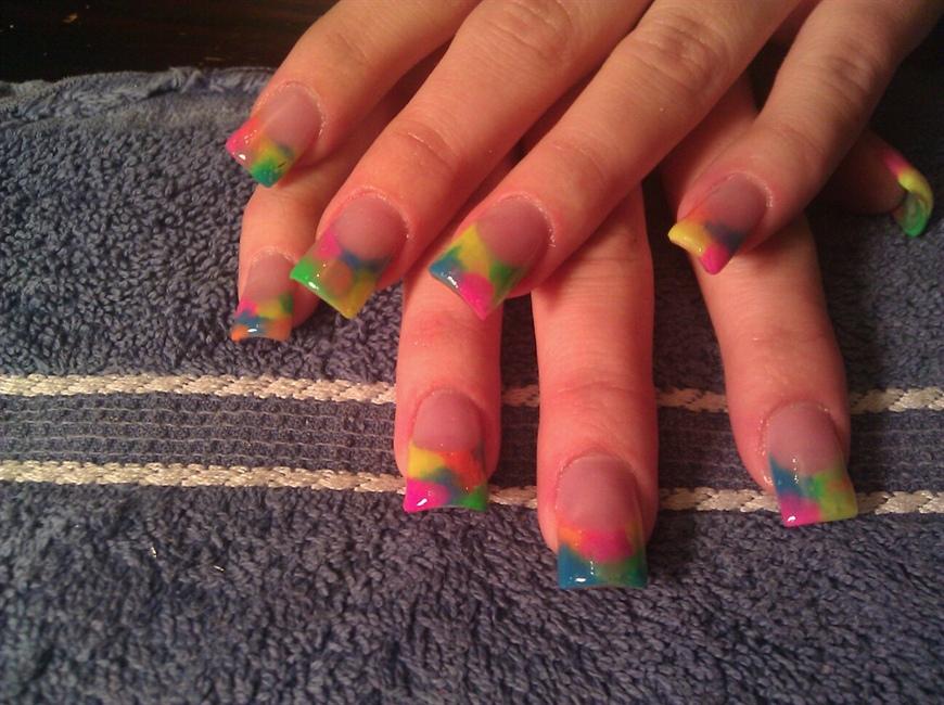 Tie Dye Nails Nail Art Gallery