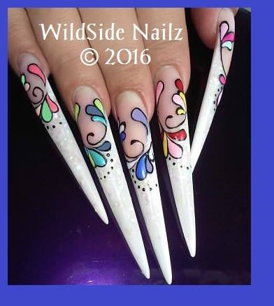 Coloring book nail art by WildSide Nailz