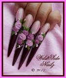 Chocolate Stilettos by WildSide Nailz