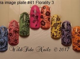 nail art: Moyra's Florality 3 Image Plate