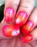 Tropical Sherbet nails