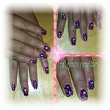 Flower/Fish net nails