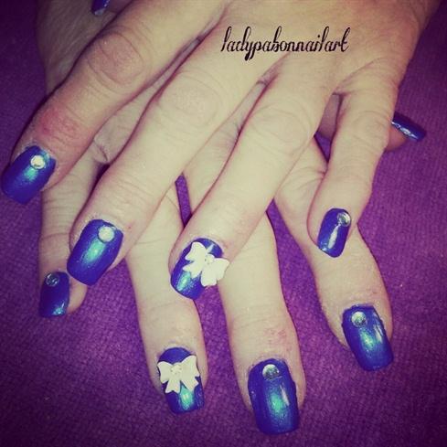 blue rhinestone with bows