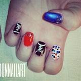 Superbowl nails 2014