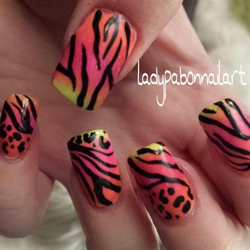Lisa Frank inspired Neon Zebra & cheetah