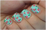 Fresh Floral Small Flower Nail Design