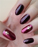 Gold Metal Slice Nail Sticker Nail Wheel