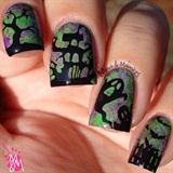 Lady Queen Halloween Stamping Plates