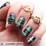 Plaid Clad Nail Art