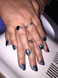 Glitter Blue And Filigree