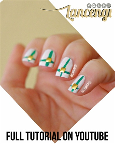 Easy Hand Painted Green & Gold