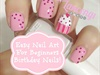 Pink Princess Birthday Cupcake Nails