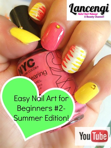 Summer Abstract Tiger Manicure