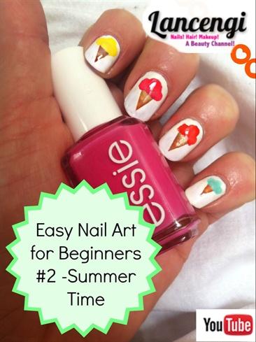 Easy Summer Design -ice Cream Mani